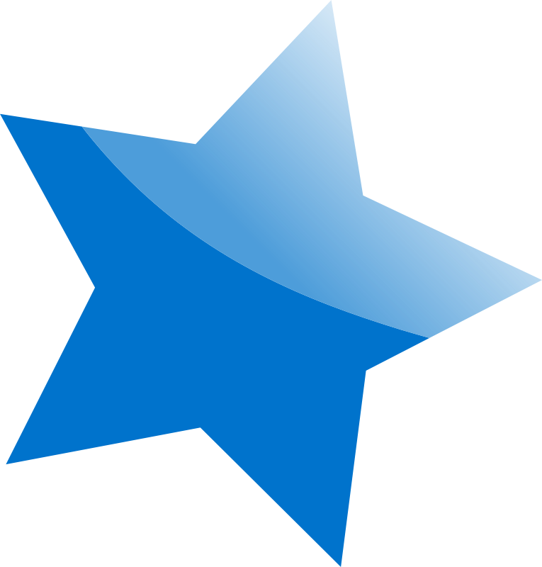 Free Clipart: Blue Star.