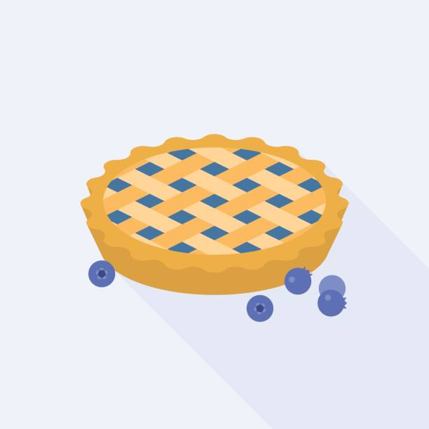 Best Blueberry Pie Illustrations, Royalty.