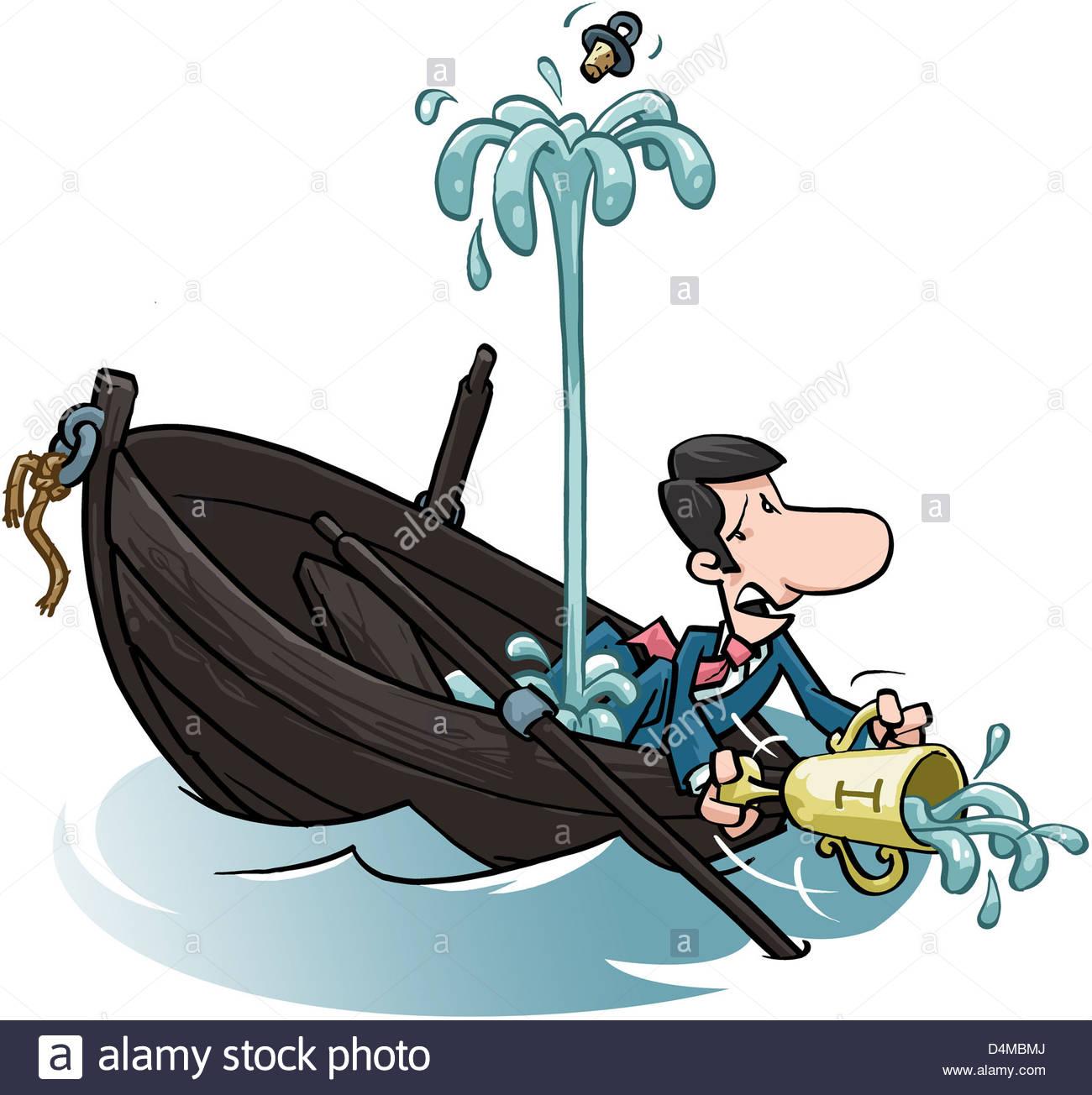 Illustration Boat Sinking Stock Photos & Illustration Boat Sinking.