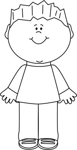 Image result for kids body clipart black and white.
