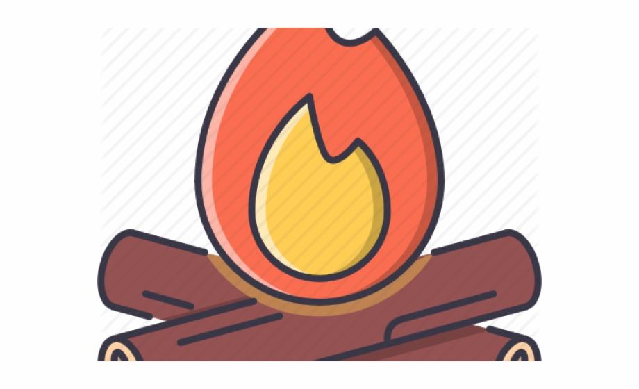 Bonfire Clipart Fire Wood , Png Download.