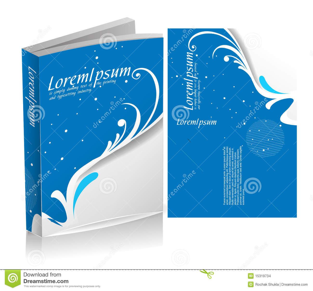 Floral book cover design stock vector. Illustration of floral.
