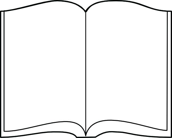 Open Book Coloring Page.