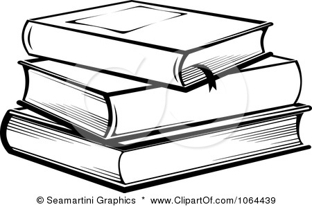 Books Clipart Black And White.