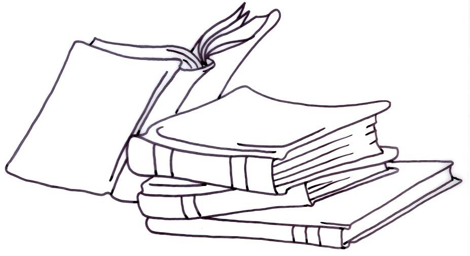 Book Stack Clip Art Black And White.