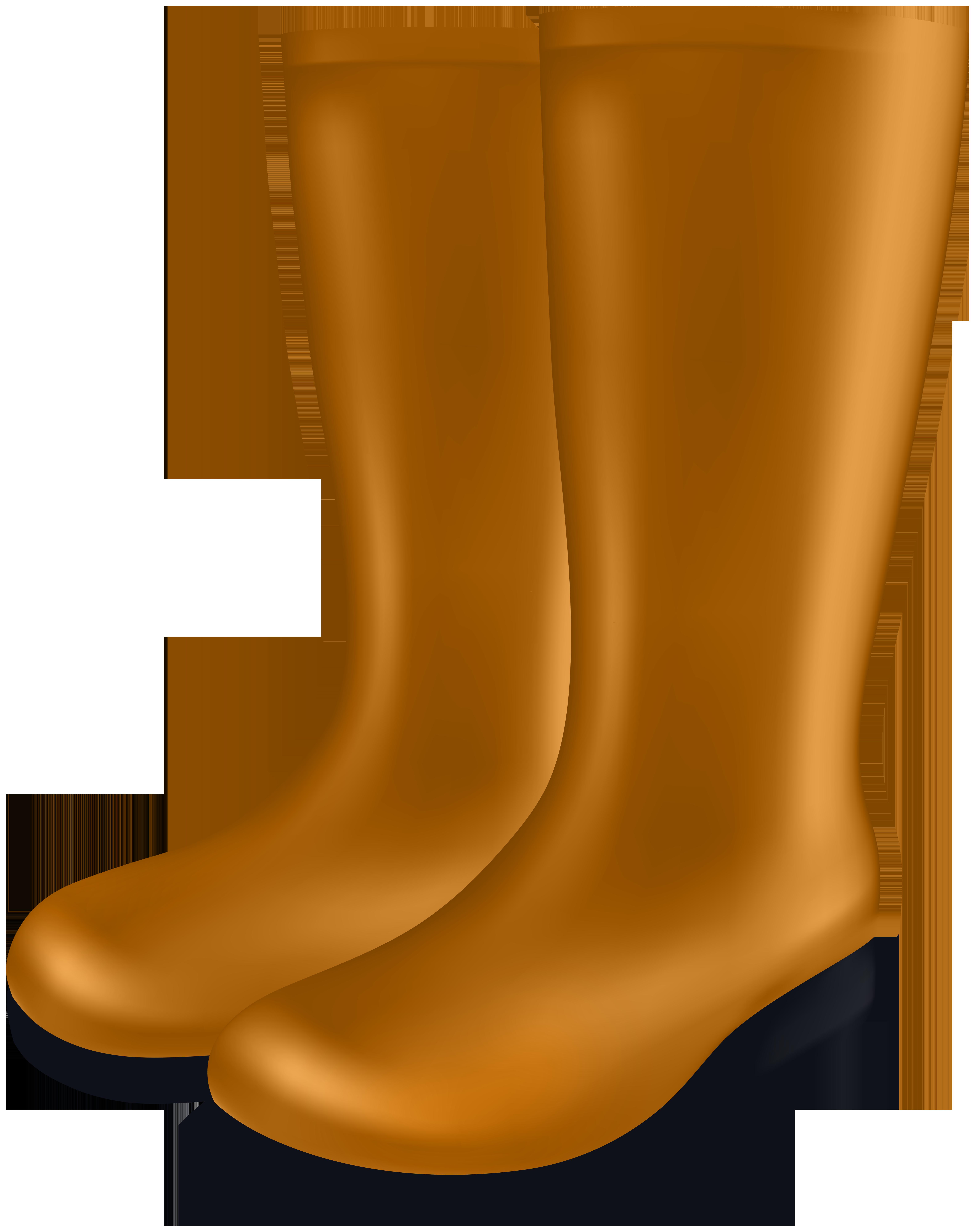 Rubber Boots PNG Clip Art Image.