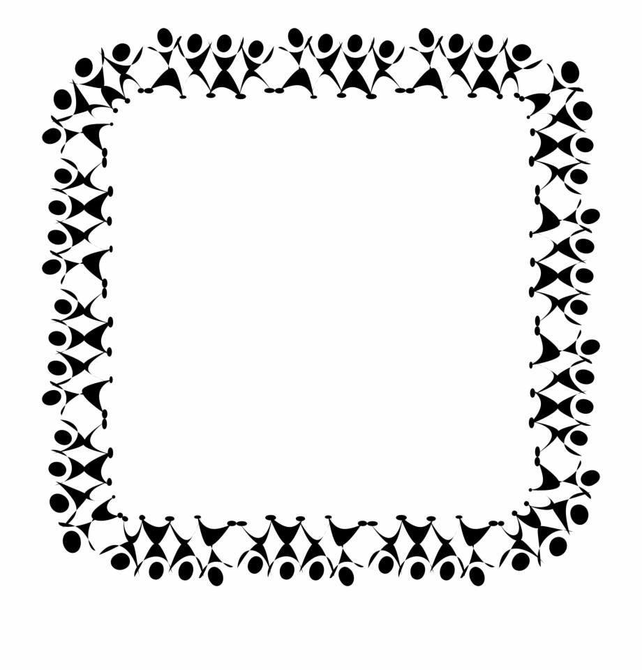 Black And White Dance Clip Art Borders Clipart Vector.