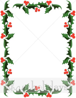 Clip Art Christmas Borders Holly.