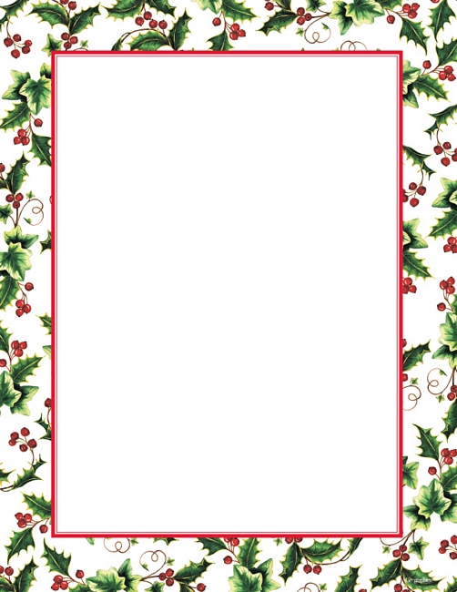 Free Christmas Letter Borders.