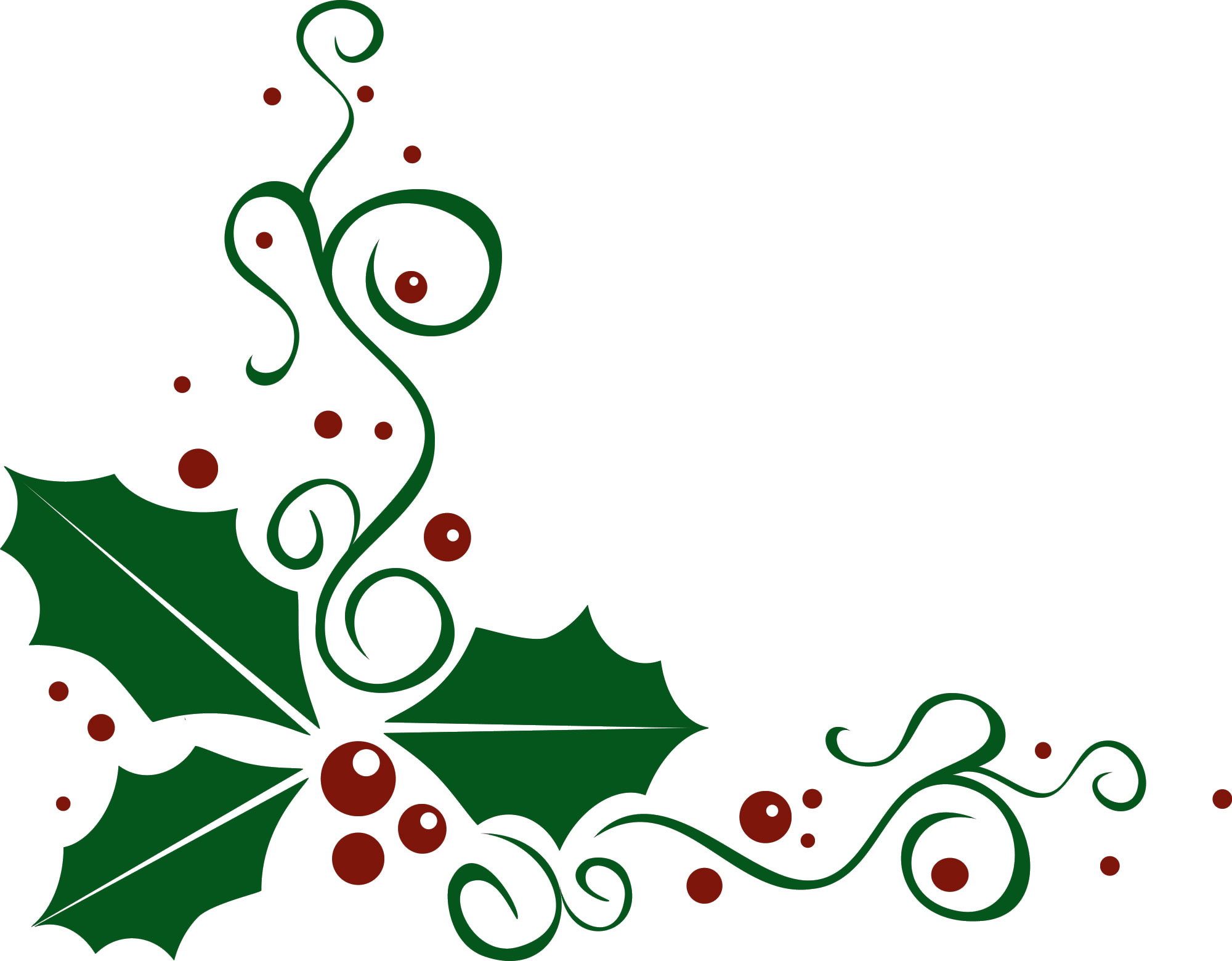 Christmas Clipart Borders Holly.