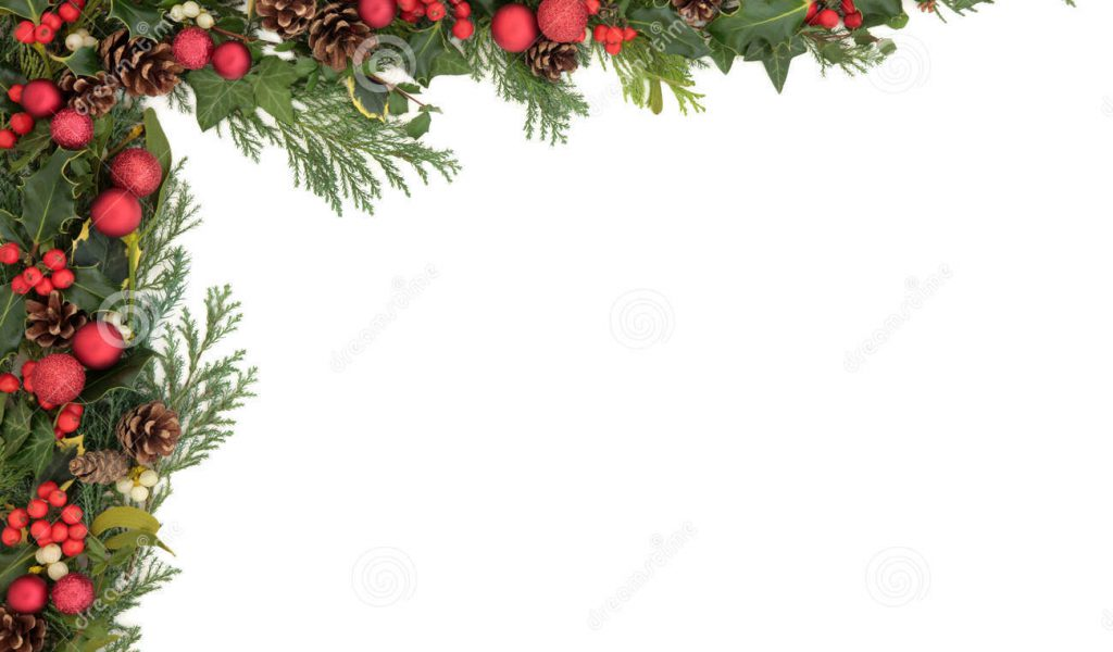 Christmas Holly Clip Art Free Borders.