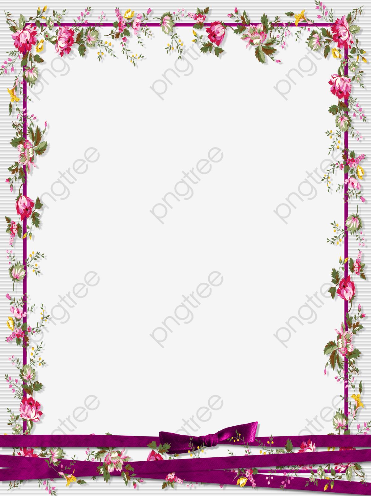 Floral Border Design, Graphic Design, Flowers, Frame PNG Transparent.