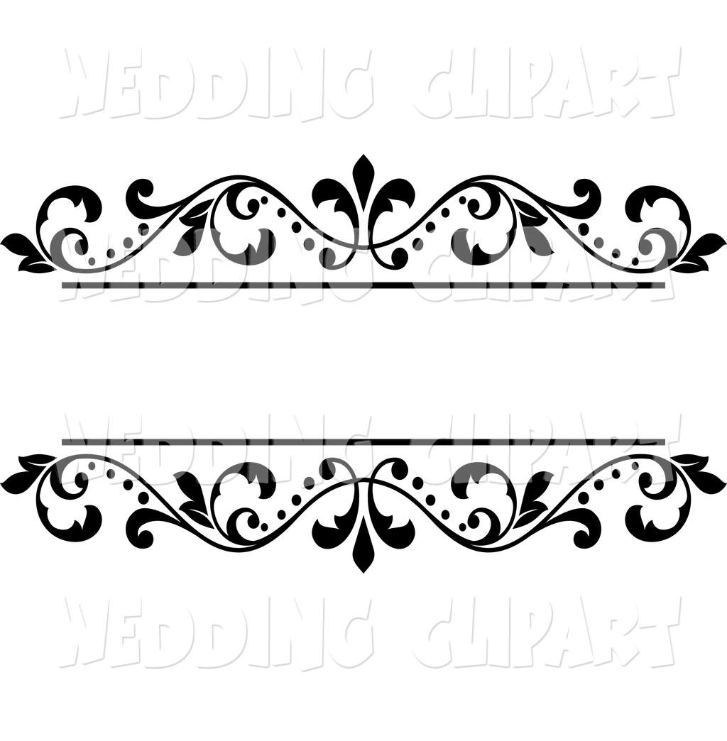 Wedding Designs Clipart Borders.