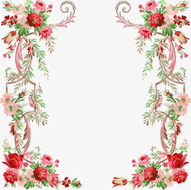 Floral Border Design PNG, Clipart, Border, Border Clipart, Design.