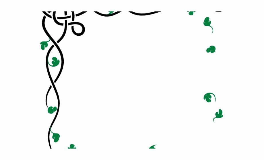 Green Leaves Clipart Border Design Png.