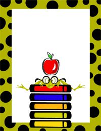 School Page Borders Clipart.