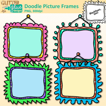 Doodle Picture Frame Clip Art: Free Borders for Teachers {Glitter Meets  Glue}.