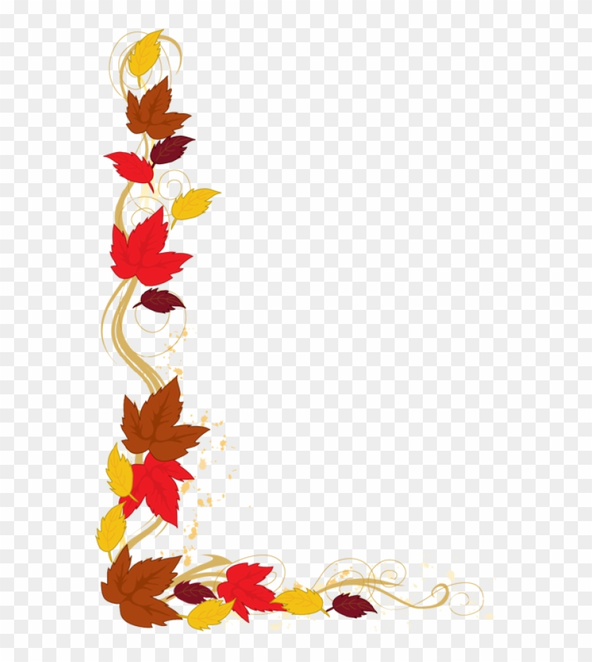 Clip Art Of An Autumn Leaf Border.