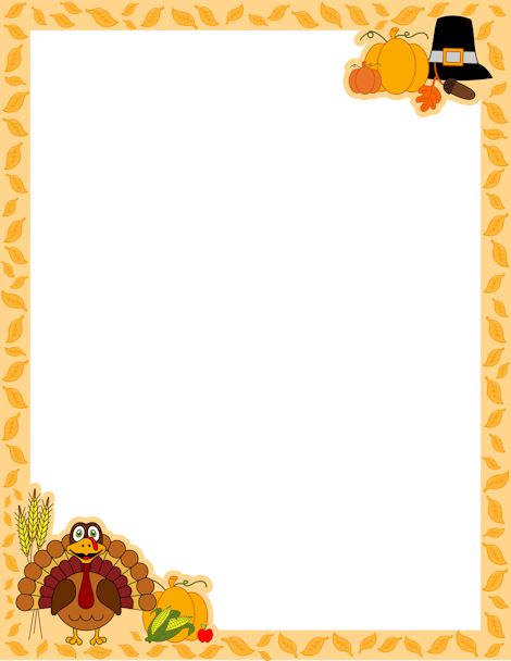 53+ Thanksgiving Clip Art Borders.