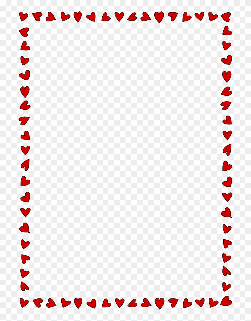 Valentine's Day Page Borders Clip Art For Kids.