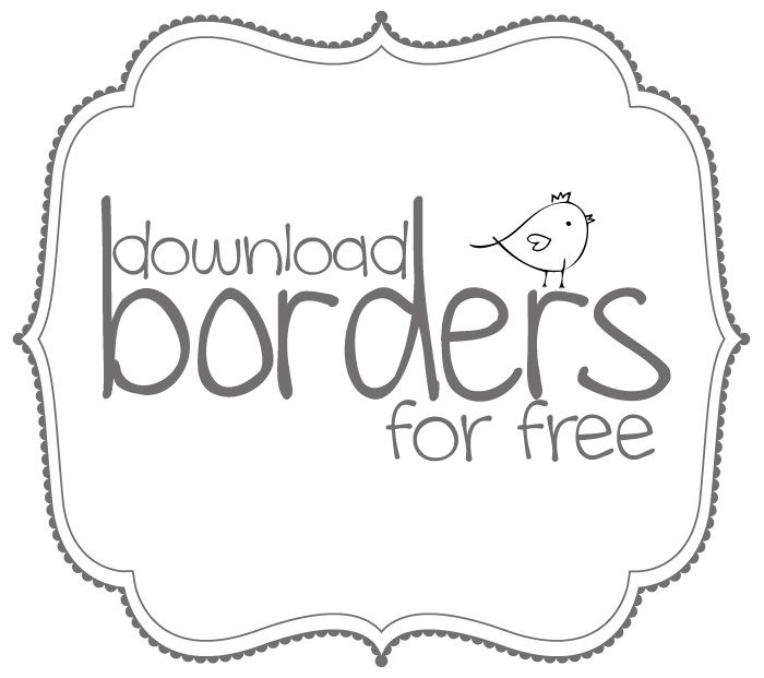 Free borders and bracket frames // Download.
