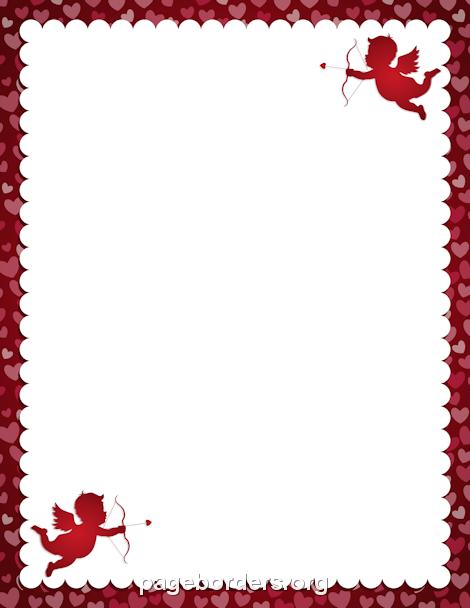 Valentines Day Border Clipart.