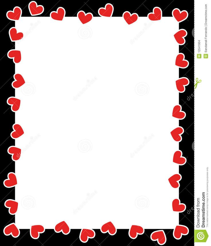 Valentine Borders Clipart.