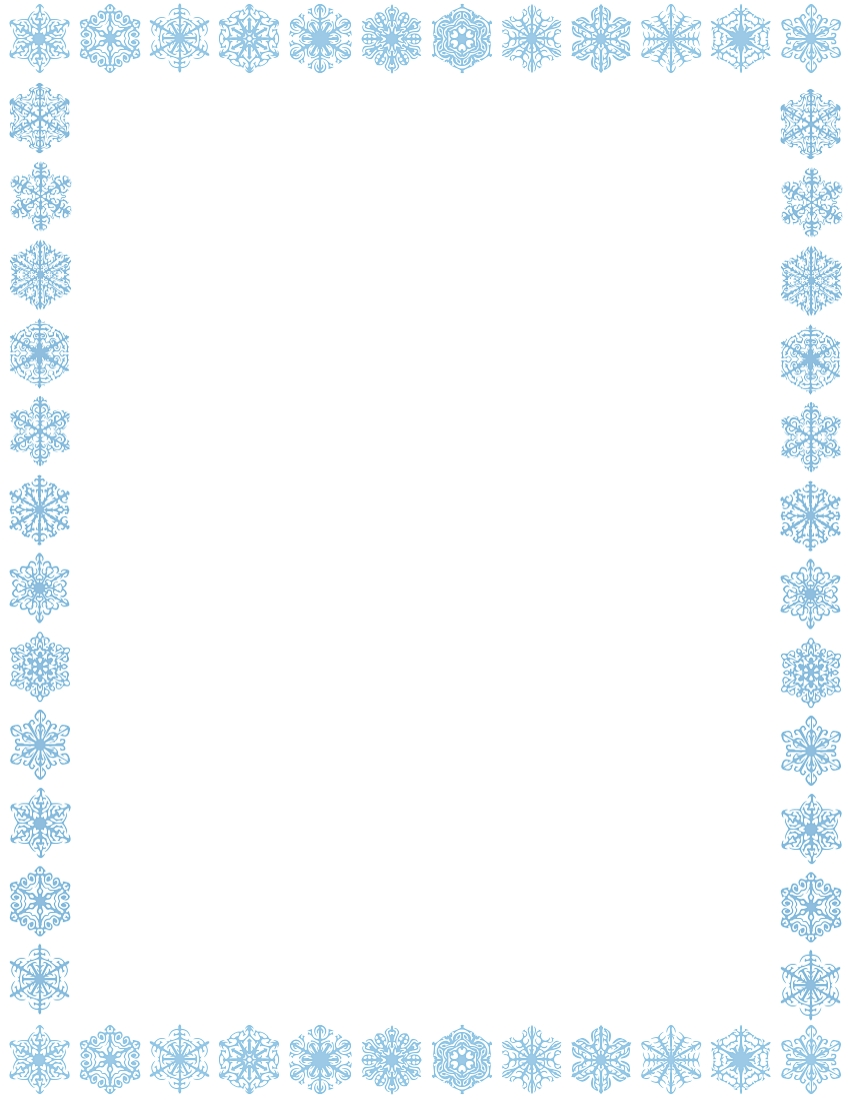 Winter Page Borders For Microsoft Word.