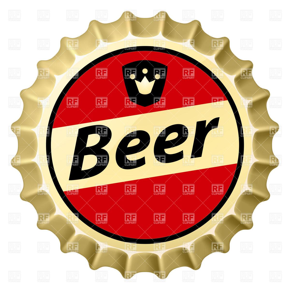 Red beer bottle cap Stock Vector Image.