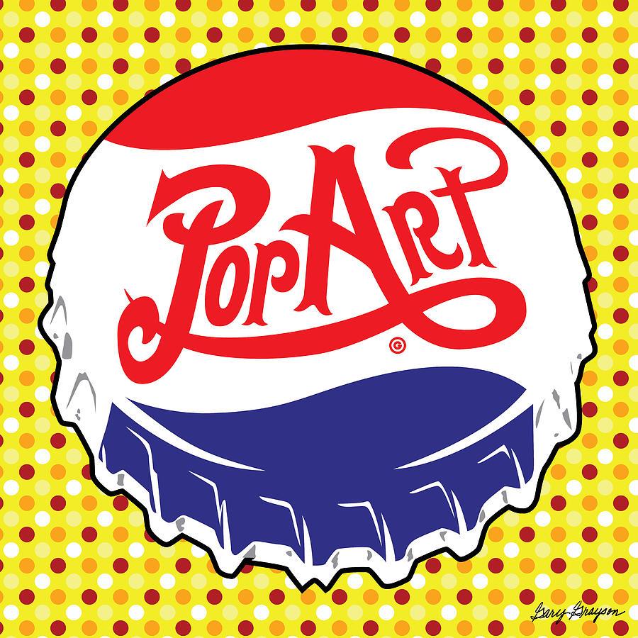 Pop Art Bottle Cap.