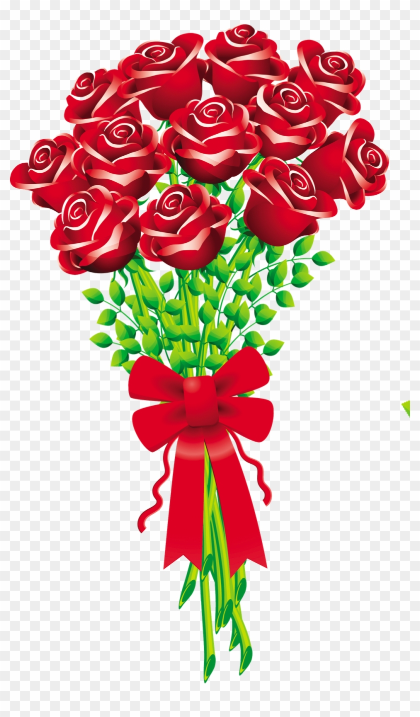 Flower Bouquet Rose Cut Flowers Clip Art.