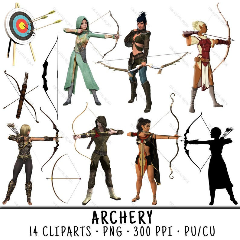 Archery Clipart, Bow Arrow Clipart, Archery Clip Art, Bow Arrow Clip Art,  Archery PNG, Bow Arrow PNG, Clipart Archery, Archery Bow Arrow.