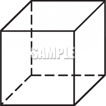 Black and White Outline of a Box.