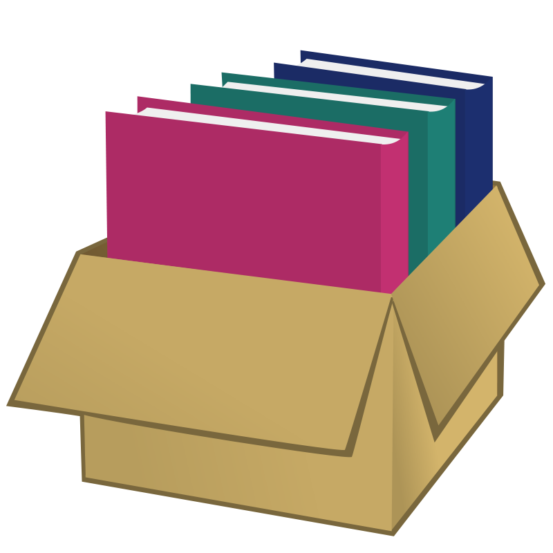 Free Clipart: Box with folders.