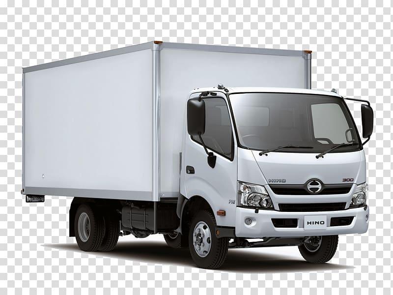 White Hino box truck, Hino Motors Car Toyota Van Hino Dutro, truck.