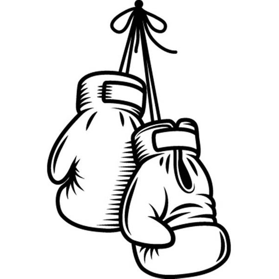 Boxing Gloves #1 Fight Fighting MMA Mixed Martial Art Boxer Kickboxing  Equipment Competition.SVG .EPS Clipart Vector Cricut Cut Cutting File.