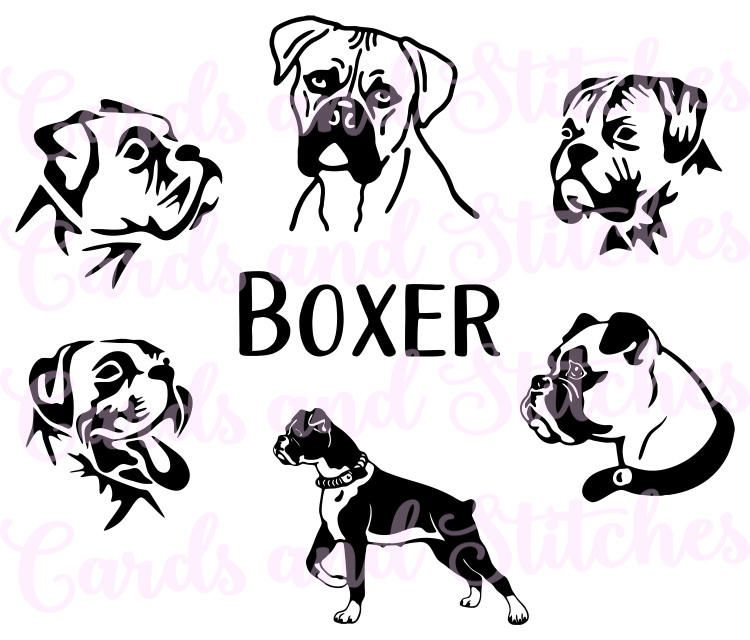 Boxer Dogs SVG.