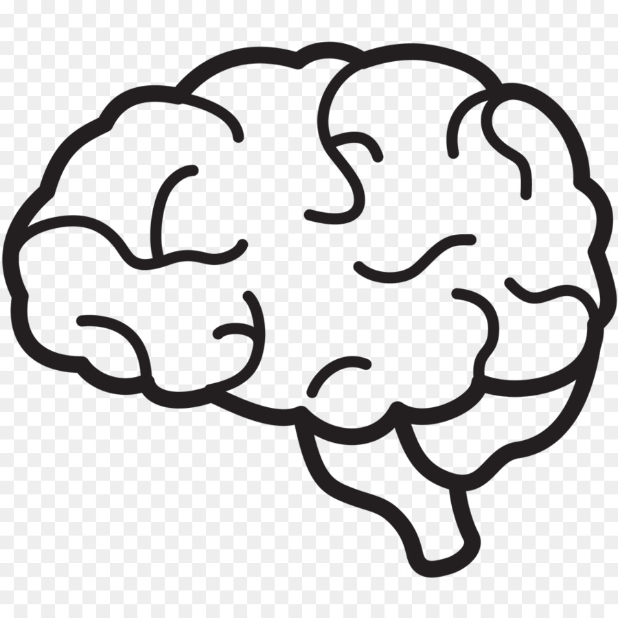 Brain Drawing Art.