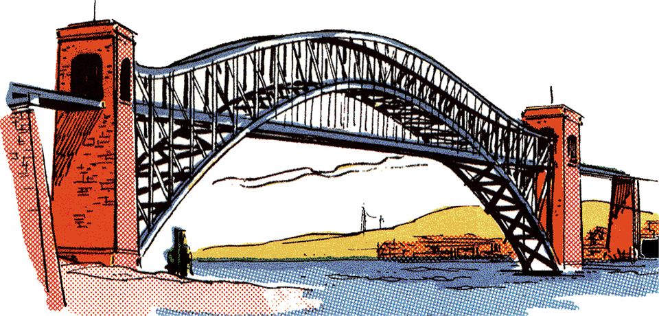 Bridge Vintage Clip Art.