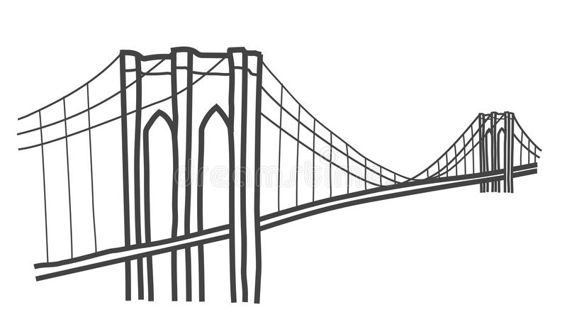 Brooklyn Bridge Stock Illustrations.