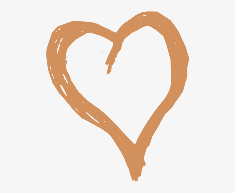 How To Set Use Brown Heart Clipart.