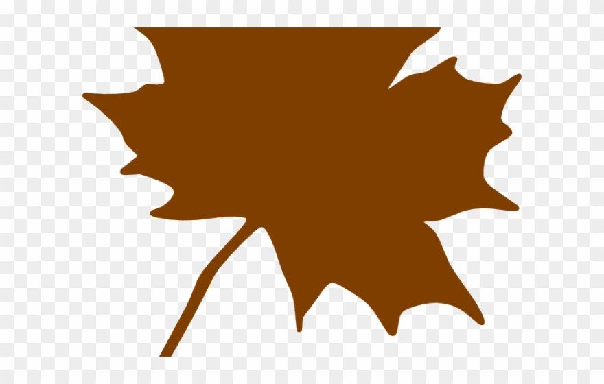 Maple Leaf Clipart Brown.
