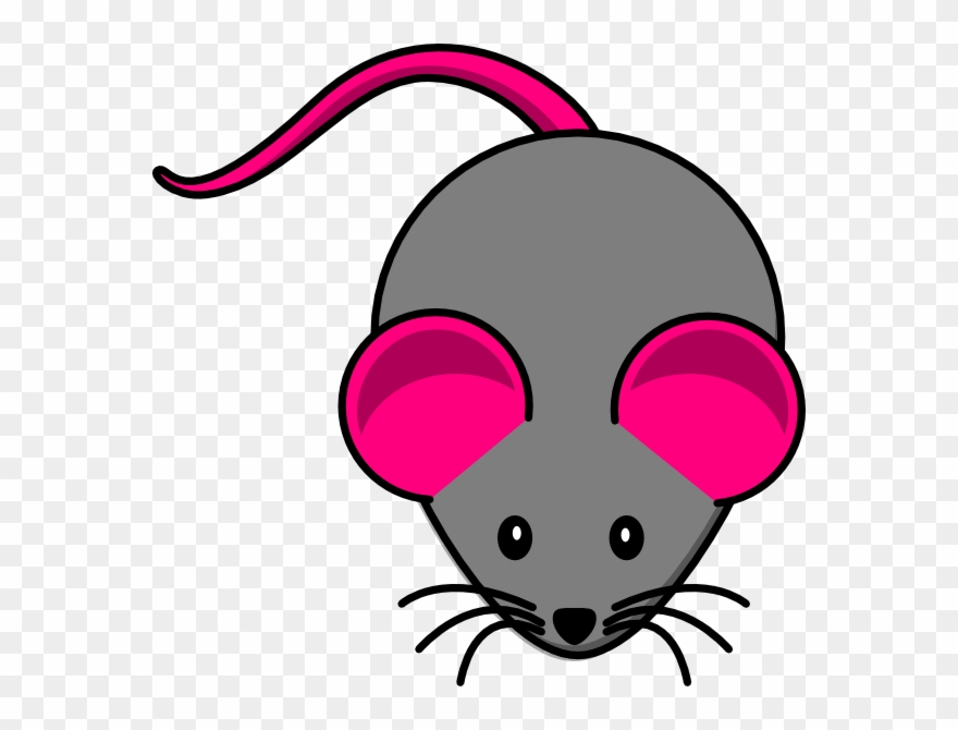 Pink Gray Mouse Clip Art.
