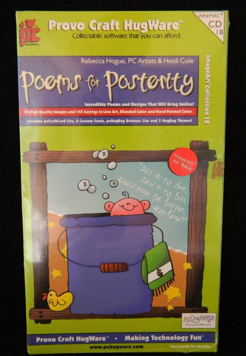 Poems for Posterity Clip Art Software Provo Craft Hugware.