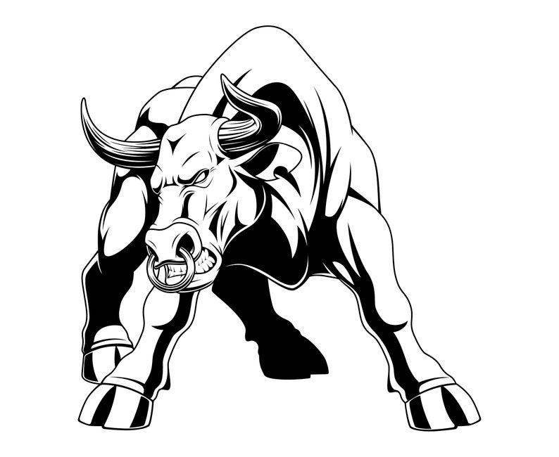 Bull SVG, Bull clipart, Buffalo SVG, Bison svg, Buffalo graphic, Rodeo,  Bull, Silhouette, SVG, Graphics,Illustration,Logo,Digital.