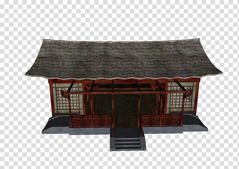 Dojo Building, brown concrete house transparent background PNG.