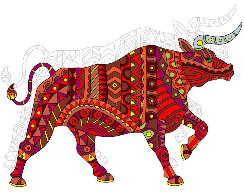 Bull Painted Stock Illustrations.