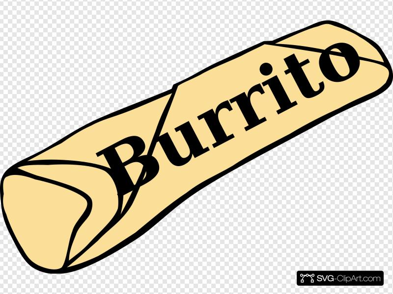 Burrito Clip art, Icon and SVG.