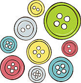 Sewing Button Clipart & Free Clip Art Images #15055.