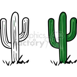 desert cactus clipart. Royalty.